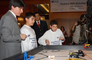 Judging at the Third National Robotics Tournament, Baku. 17 Dec 2006. Photo taken by Dena Barmas