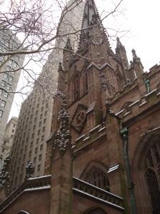Trinity Church at Wall Street, New York. 31 Dec 2009