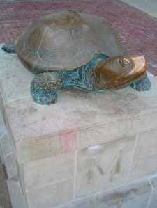 Testudo memorial in front of McKeldin Library