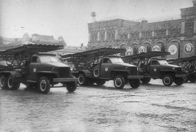 """""""Katyuşa""""lar Qələbə Paradında. Moskva, 24 iyun 1945-ci il. Foto: F. Kislov"""