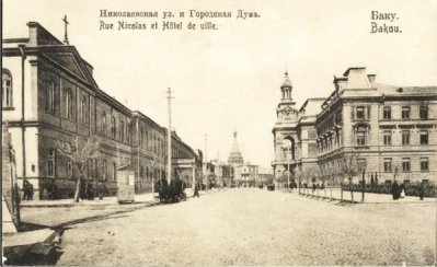 Old photo of central Baku, 1905