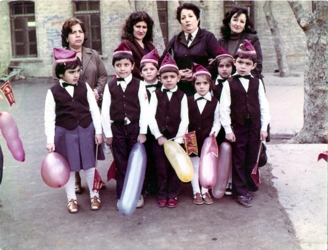 Baku public school No.132 courtyard, 1984.