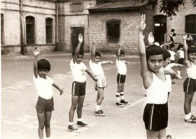 Baku public school No.132 courtyard, 1986