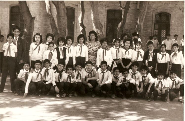 Baku public school No.132 courtyard, 1988