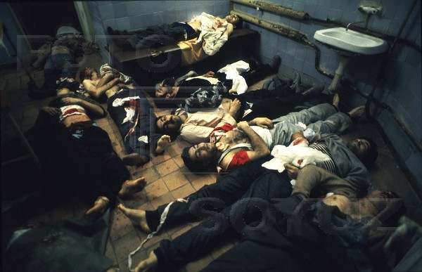 Dead bodies in the city morgue. Photo: Victoriya Ivleva