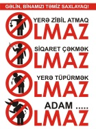 """""""Olmaz"""" posteri bizim evin liftində. 9 sentyabr 2011"""