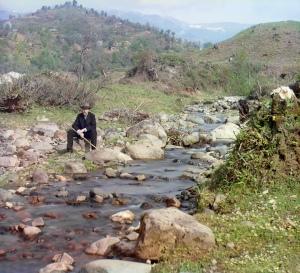 Skuritsxali çayının sahilində. Etüd. Orta-Batum. 1912-ci il. Mənbə: Konqres Kitabxanası
